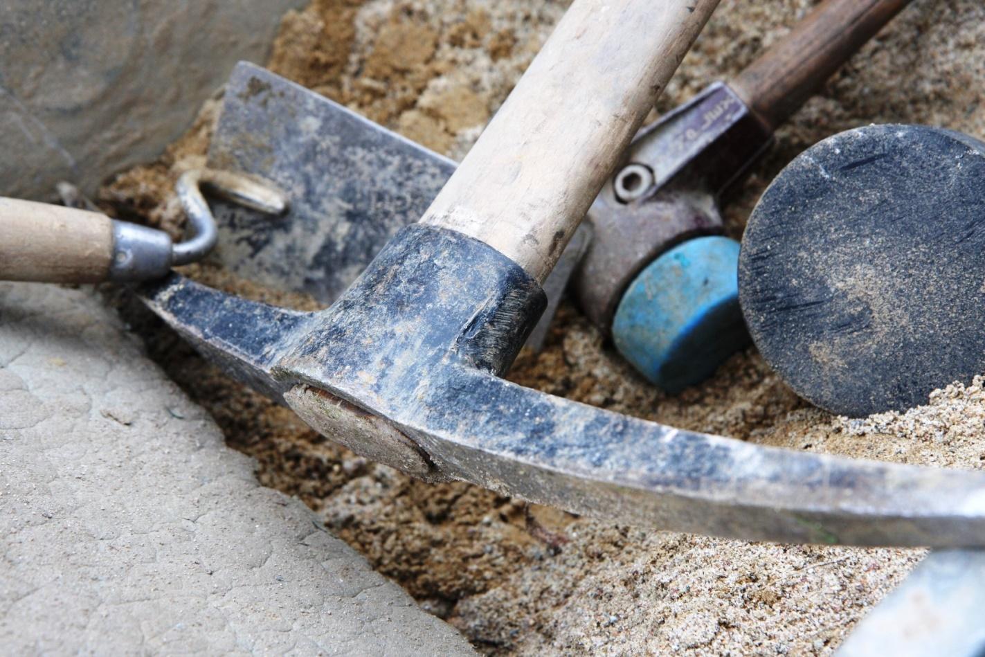 Handwerkszeug für Montage-Baustelle