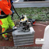Montageaufbau Kabelschub-Raupe, Hersteller Lancier