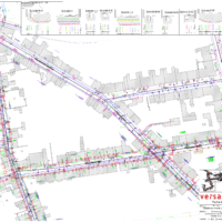 Antragsplanwerk Bauraumnachweis mit koordinierter Leitungskarte