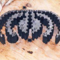 Gummipressdichtung Sonderanfertigung, geteilte Ausführung, 48 Leiter