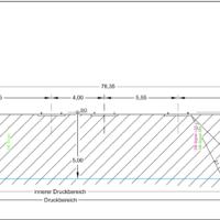 Querschnittszeichnung zum Antrag Kreuzungsvereinbarung DB