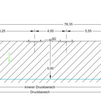 Auszug Querschnittszeichnung zum Antrag Kreuzungsvereinbarung DB