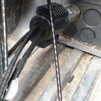 Belegtes Kabelschutzrohr Einzelzugabdichtung