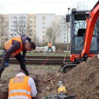Gleisquerung im Bodenverdrängungsverfahren